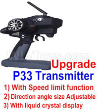 Wltoys 12427 Parts-Upgrade P33 Transmitter(With Speed Limit function)-12427-00126