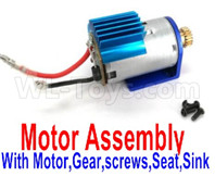 Wltoys 12427 Parts-Motor assembly,include the Motor,Motor Gear,Screws,Motor seat,Motor sink