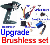 Wltoys 12427 Parts-Upgrade Brushless set,Include the Brushless Motor,Motor gear,ESC,Transmitter,Servo.Perfcet fit for the Wltoys 12427 Car
