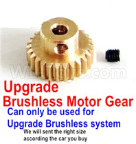 Wltoys 12427 Parts-Upgrade Motor gear(The motor Gear hole diameter is 3.2mm,Perfect for the Upgrade Brushless motor)