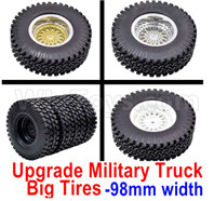Wltoys 12427 Parts-Upgrade Military truck tires,More Big,More