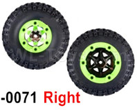 Wltoys 12427 Parts-Whole Right Wheel unit-12427-0071-(Include the Wheel,Trie leather,upper and bottom wheel cover)-2pcs