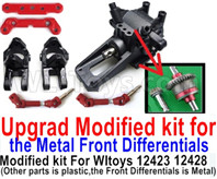 Wltoys 12428 Parts Upgrade Modified kit for the Metal Front Differentials-Option 1(Front Differentials assembly is Metal,other parts is plastic