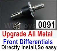 Wltoys 12428 Upgrade Parts All Metal Front Differentials, 12428-0091, Can Directly install,So Easy,Can be used for12428  12429 12428-B 12428-C 12428-A Truck.
