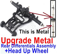Wltoys 12428 Upgrade Parts Head up Wheel and Upgrade Metal Rear Differentials Assembly. (Ordinary metal materials)