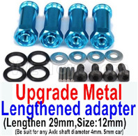 Wltoys 12428 Upgrades Parts Metal Lengthed adapter(4 set)-Lengthen 29mm.