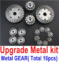 Wltoys 12428 Upgrade Parts Metal Kit, (Metal gear,total 16pcs)