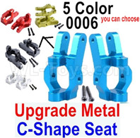Wltoys 12428 Upgrade Parts-Metal C-Shape Seat.Total 2pcs,Blue, 12428-0006