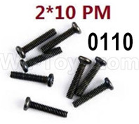 Wltoys 12428 screws-Cross recessed pan head screws(8PCS)-M2X10 PM Parts, 12428-0110 screws Parts