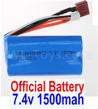 Wltoys 12428 Parts-Battery,Official 7.4V 1500MAH 15C 18650 Lipo Battery,1pcs, 12428-0123