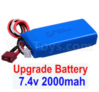Wltoys 12428 Parts-Battery Packs,Upgrade 7.4V 2000mah 25C Battery(1pcs)-Size-80X35X19MM Parts, 12428-0123