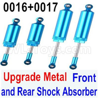 Wltoys 12428 Upgrades Parts Metal Front and Rear Shock Absorber, Total 4pcs, 12428-0016 + 12428-0017.