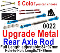 Wltoys 12428 Upgrade Parts Metal Rear axle Rod. Total 2pcs.  12428-0022,