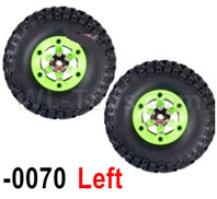 Wltoys 12428 Wheel Tires Parts-Whole Left Wheel unit(Include the Wheel,Trie leather,upper and bottom wheel cover)-2pcs, 12428-0070