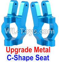 Wltoys 12429 Parts-0006-02 Upgrade Metal C-Shape Seat(2pcs)-Blue,Wltoys 12429 1/12 RC Car Parts