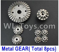 Wltoys 12429 Parts-0014-02 Whole Metal Kit-(Metal gear,total 8pcs),Wltoys 12429 1/12 RC Car Parts