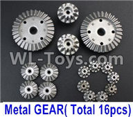 Wltoys 12429 Parts-0014-03 Whole Metal Kit-(Metal gear,total 16pcs),Wltoys 12429 1/12 RC Car Parts