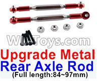 Wltoys 12429 Parts-0022-02 12429.1172 Upgrade Metal Rear axle Rod(2pcs)-Red-(Full length-84-97mm),Wltoys 12429 1/12 RC Car Parts
