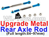 Wltoys 12429 Parts-0022-03 12429.1172 Upgrade Metal Rear axle Rod(2pcs)-Blue-(Full length-84-97mm),Wltoys 12429 1/12 RC Car Parts