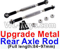 Wltoys 12429 Parts-0022-04 12429.1172 Upgrade Metal Rear axle Rod(2pcs)-Black-(Full length-84-97mm),Wltoys 12429 1/12 RC Car Parts