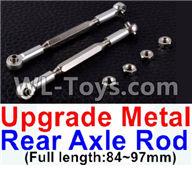 Wltoys 12429 Parts-0022-05 12429.1172 Upgrade Metal Rear axle Rod(2pcs)-Silver-(Full length-84-97mm),Wltoys 12429 1/12 RC Car Parts