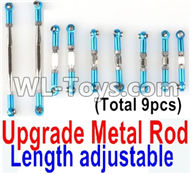 Wltoys 12429 Parts-0022-06 Upgrade Metal Rod(Length adjustable)-9pcs-Blue,Wltoys 12429 1/12 RC Car Parts