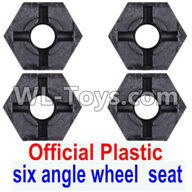 Wltoys 12429 Parts-0044-01 Official Plastic Combination device, six angle wheel seat(4pcs),Wltoys 12429 1/12 RC Car Parts
