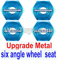 Wltoys 12429 Parts-0044-02 Upgrade Metal Combination device, six angle wheel seat(4pcs),Wltoys 12429 1/12 RC Car Parts