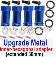 Wltoys 12429 Parts-0044-09 SLA010 Upgrade Metal 12mm inner-hexagonal adapter(extended 30mm)-Blue,Wltoys 12429 1/12 RC Car Parts