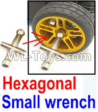 Wltoys 12429 Parts-0046-03 Hexagonal small wrench(Can be used for M2, M2.5, M3, M4 nut specifications),Wltoys 12429 1/12 RC Car Parts
