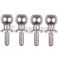 Wltoys 12429 Parts-0074 Ball head screw(M4.8X11.5)-4PCS,Wltoys 12429 1/12 RC Car Parts