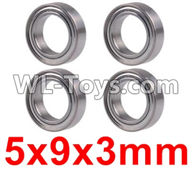Wltoys 12429 Parts-0092 Bearing(4pcs-5X9X3MM),Wltoys 12429 1/12 RC Car Parts