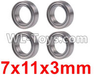 Wltoys 12429 Parts-0094 Bearing(4pcs-7X11X3MM),Wltoys 12429 1/12 RC Car Parts