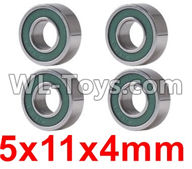 Wltoys 12429 Parts-0095 Bearing(4pcs-5X11X4MM),Wltoys 12429 1/12 RC Car Parts