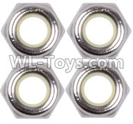 Wltoys 12429 Parts-0119 M4 Anti loose nut(4PCS),Wltoys 12429 1/12 RC Car Parts