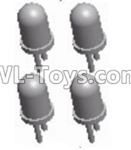 Wltoys 12429 Parts-0122 Car light(4PCS)-5MM(White Light),Wltoys 12429 1/12 RC Car Parts