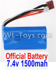 Wltoys 12429 Parts-0123-01 Official 7.4V 1500MAH-18650 Battery(1pcs),Wltoys 12429 1/12 RC Car Parts
