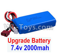 Wltoys 12429 Parts-0123-03 Upgrade 7.4V 2000mah Battery(1pcs)-Size-80X35X19MM,Wltoys 12429 1/12 RC Car Parts