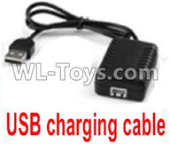 Wltoys 12429 Parts-0124-01 12429.1146 Official USB Charger with 7.4v 2000mAXH-3P Plug,Wltoys 12429 1/12 RC Car Parts