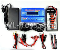 Wltoys 12429 Parts-0124-06 Upgrade Charger unit,Can charger 2s or 3s 6x battery at the same time(Power & B6 Charger & 1-To-6 Parallel charging Board),Wltoys 12429 1/12 RC Car Parts