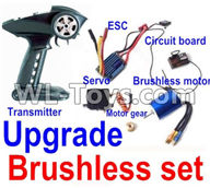 Wltoys 12429 Parts-0127-01 Upgrade Brushless sett(Include the Transmitter,Brushless motor,ESC,Servo,Motor gear,Circuit board),Wltoys 12429 1/12 RC Car Parts