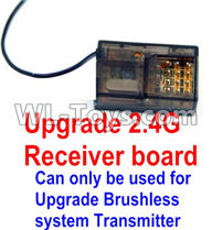 Wltoys 12429 Parts-0127-05 Upgrade 2.4G Receiver board(Can only be used for Upgrade Brushless set,You must buy the upgrade Transmitter together to use for Upgrade Brushless set),Wltoys 12429 1/12 RC Car Parts