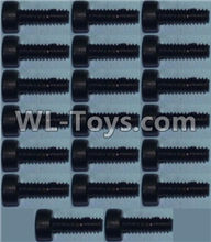 Wltoys 12429 Parts-0141-01 K949-94 Cup head inner hexagon Screws M2X6-(20pcs),Wltoys 12429 1/12 RC Car Parts