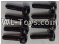 Wltoys 12429 Parts-0141-02 10428-B.0334 Cup head hex head screw-M2x8(8pcs),Wltoys 12429 1/12 RC Car Parts