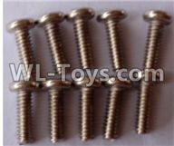 Wltoys 12429 Parts-0142-03 12428-B.0760 Cross round head machine screw-M2X6PM(10pcs),Wltoys 12429 1/12 RC Car Parts