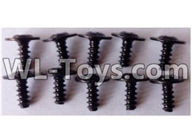 Wltoys 12429 Parts-0142-03 L959-62 Round head with self-tapping screws M2.6X6(10pcs),Wltoys 12429 1/12 RC Car Parts