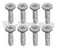 Wltoys 12429 Parts-0142-04 A202-15 Cross flat head screw-M2x8(8PCS),Wltoys 12429 1/12 RC Car Parts
