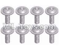 Wltoys 12429 Parts-0150-04 12428.0069 Pan head screws with cross media(8pcs)-M2.5X8 PWM,Wltoys 12429 1/12 RC Car Parts