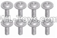 Wltoys 12429 Parts-0150-08 12428.0325 Cross round head with Media- M2.5X16-PWM-W7(8pcs),Wltoys 12429 1/12 RC Car Parts