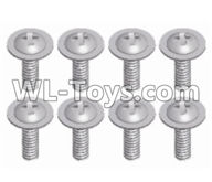 Wltoys 12429 Parts-0150-09 12428.0484 Phillips pan head screw-M2X10-PMW-W4,Wltoys 12429 1/12 RC Car Parts